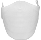 MF3 - Elastic Face Masks (Custom) - A white color default style breathable custom- designed reusable and washable elastic bands face mask for sale | www.namebadgesinternational.ca